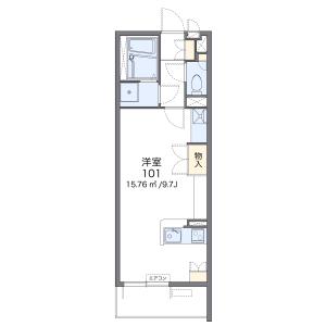1R Mansion in Naka - Fukuoka-shi Hakata-ku Floorplan