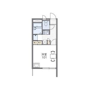 1K Apartment in Maesatocho - Yokohama-shi Minami-ku Floorplan