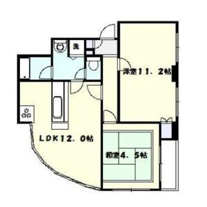 2LDK Mansion in Suenaga - Kawasaki-shi Takatsu-ku Floorplan