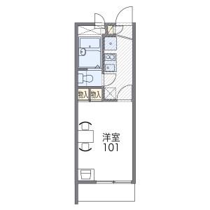 1K Mansion in Minamimukonoso - Amagasaki-shi Floorplan