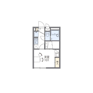 1K Apartment in Higashicho - Nishitokyo-shi Floorplan