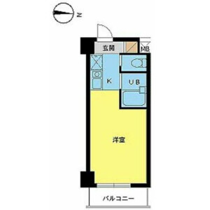 1R Mansion in Ikejiri - Setagaya-ku Floorplan