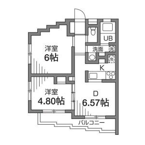 2DK Mansion in Sasazuka - Shibuya-ku Floorplan