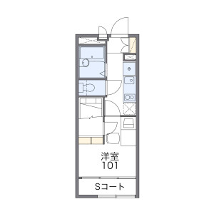 1K Apartment in Honcho - Funabashi-shi Floorplan
