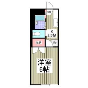 1K Apartment in Komurocho - Funabashi-shi Floorplan