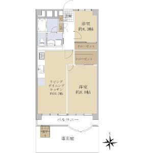 2LDK {building type} in Toyo - Koto-ku Floorplan