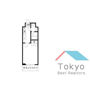 1K Mansion in Hamamatsucho - Minato-ku Floorplan