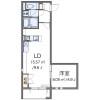 1LDK Apartment to Rent in Tachikawa-shi Floorplan