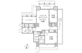 2LDK Mansion in Shinogawamachi - Shinjuku-ku