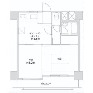 2DK {building type} in Shimochiai - Shinjuku-ku Floorplan