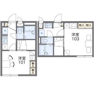 1K Apartment in Sammaicho - Yokohama-shi Kanagawa-ku Floorplan