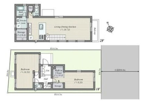 2LDK House to Buy in Meguro-ku Floorplan