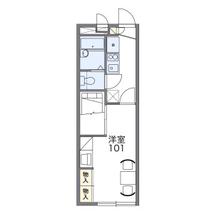 1K Apartment in Niwase - Okayama-shi Kita-ku Floorplan