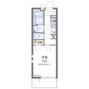 1K Mansion in Dotecho - Saitama-shi Omiya-ku Floorplan
