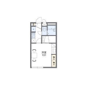 1K Apartment in Kumata - Osaka-shi Higashisumiyoshi-ku Floorplan