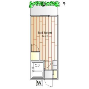 1R Apartment in Kamiyoga - Setagaya-ku Floorplan