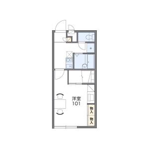 1K Apartment in Oka - Fukaya-shi Floorplan