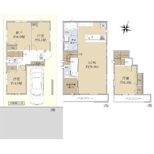 3SLDK {building type} in Shakujiimachi - Nerima-ku Floorplan