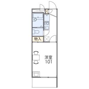 1K Mansion in Mozumemachi - Sakai-shi Kita-ku Floorplan
