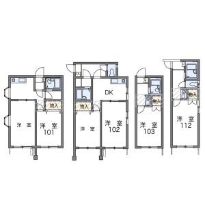1K Apartment in Kuze nakakuzecho - Kyoto-shi Minami-ku Floorplan