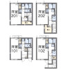 1K 아파트 to Rent in Chofu-shi Floorplan