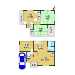 5K {building type} in Uenoshibamukogaokacho - Sakai-shi Nishi-ku Floorplan