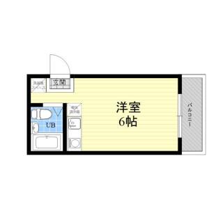 1R Mansion in Honcho - Nakano-ku Floorplan