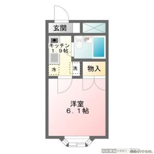 1K Mansion in Higashikasai - Edogawa-ku Floorplan