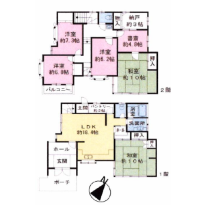 5LDK {building type} in Jomyoji - Kamakura-shi Floorplan