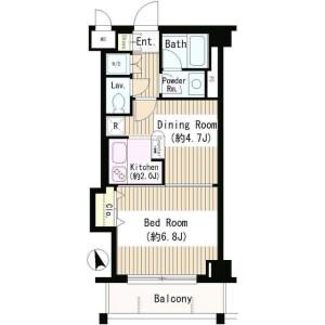 1DK Mansion in Kamiochiai - Shinjuku-ku Floorplan