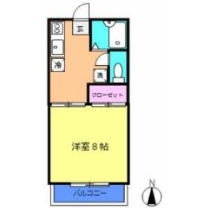 1K Apartment in Kajigaya - Kawasaki-shi Takatsu-ku Floorplan