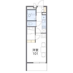 1K Apartment in Owadamachi - Hachioji-shi Floorplan