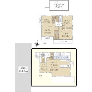 4SLDK {building type} in Oizumigakuencho - Nerima-ku Floorplan