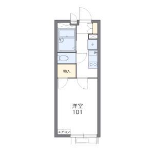 1K 아파트 in Sakaecho - Higashimurayama-shi Floorplan