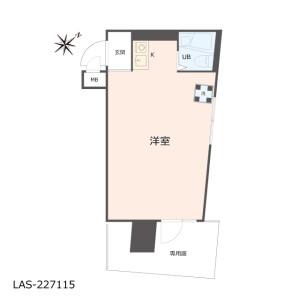 1R {building type} in Nezu - Bunkyo-ku Floorplan