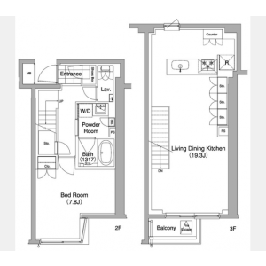 1LDK Mansion in Sarugakucho - Shibuya-ku Floorplan