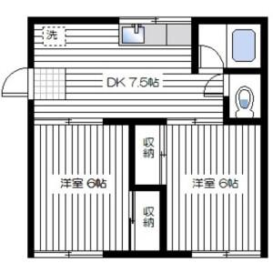 2DK Mansion in Iriyamazucho - Yokosuka-shi Floorplan