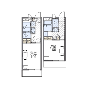 1K Mansion in Nakamichi - Osaka-shi Higashinari-ku Floorplan