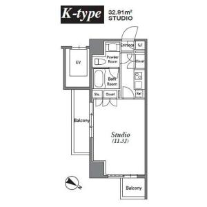 港区南麻布-1K公寓大厦 楼层布局