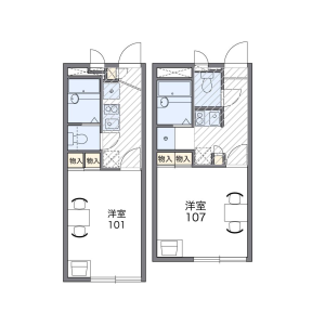 1K Apartment in Kasuga - Kumamoto-shi Floorplan