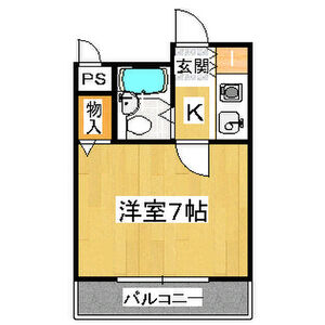 1K Mansion in Sangenyanishi - Osaka-shi Taisho-ku Floorplan