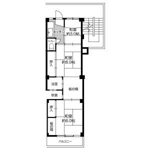 3K Mansion in Kisabe(chome) - Katano-shi Floorplan