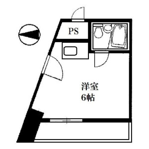 1R Mansion in Kandaogawamachi - Chiyoda-ku Floorplan