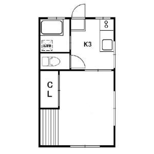 1K Apartment in Shimomeguro - Meguro-ku Floorplan