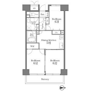 3DK Mansion in Shibaura(2-4-chome) - Minato-ku Floorplan