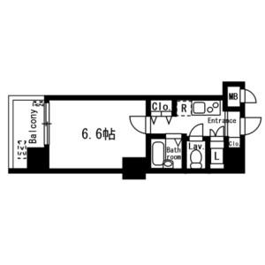 1K Mansion in Yamabukicho - Shinjuku-ku Floorplan