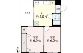 2DK {building type} in Tokumaru - Itabashi-ku