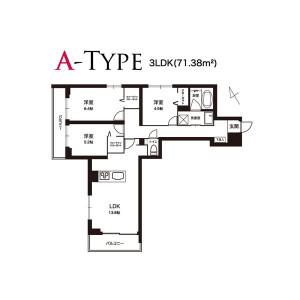 3LDK Mansion in Tamagawa - Setagaya-ku Floorplan