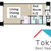 在中野区内租赁1LDK 公寓大厦 的 楼层布局