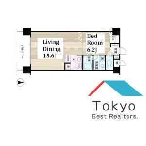 中野区本町-1LDK公寓大厦 楼层布局